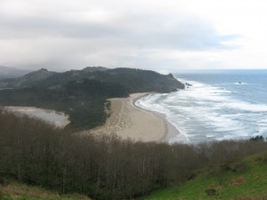 view from Cascade Head looking south